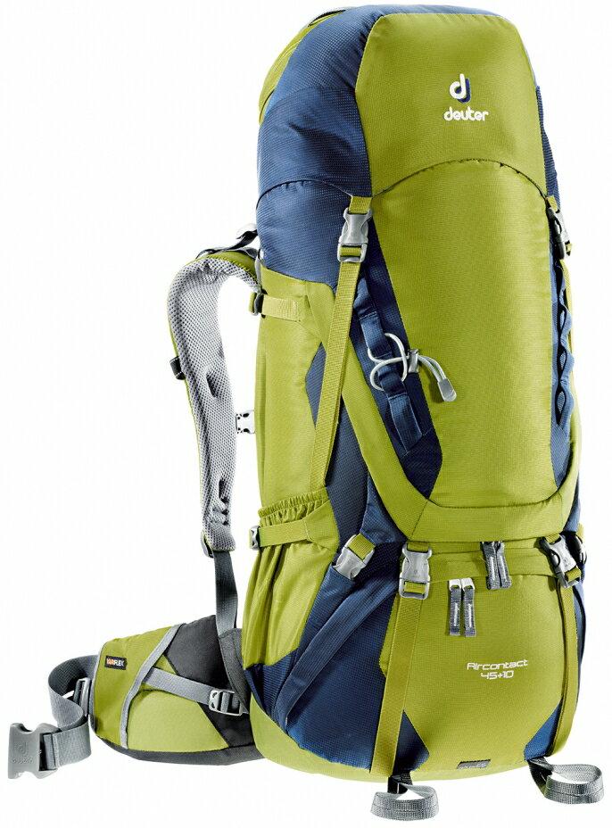 【露營趣】中和 Deuter 3320116 Aircontact 45+10L拔熱式透氣背包 登山背包 自助旅行背包