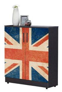 尚品傢俱:【尚品傢俱】JF-295-4尚恩2.7x3尺英國旗鞋櫃