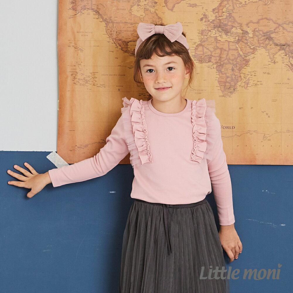 Little moni 肩袖荷葉上衣-粉紅(好窩生活節) 1