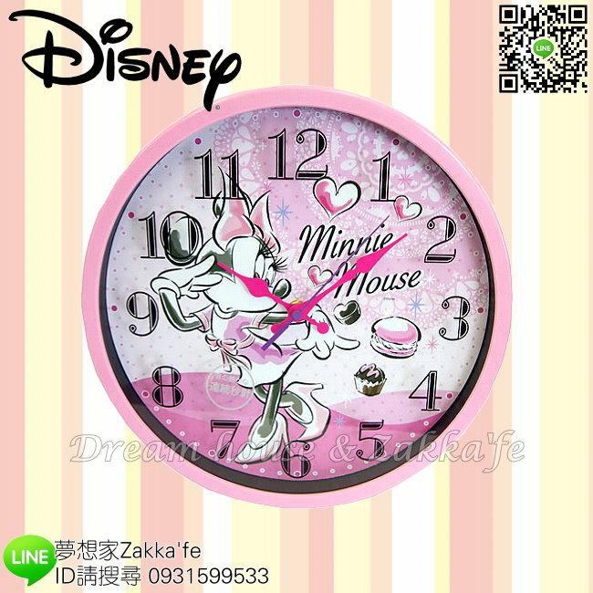 日本正版 Disney 迪士尼 米妮 掛鐘/時鐘《 靜音無聲連續機芯 》★ 簡單時尚可愛 ★ 夢想家精品家飾