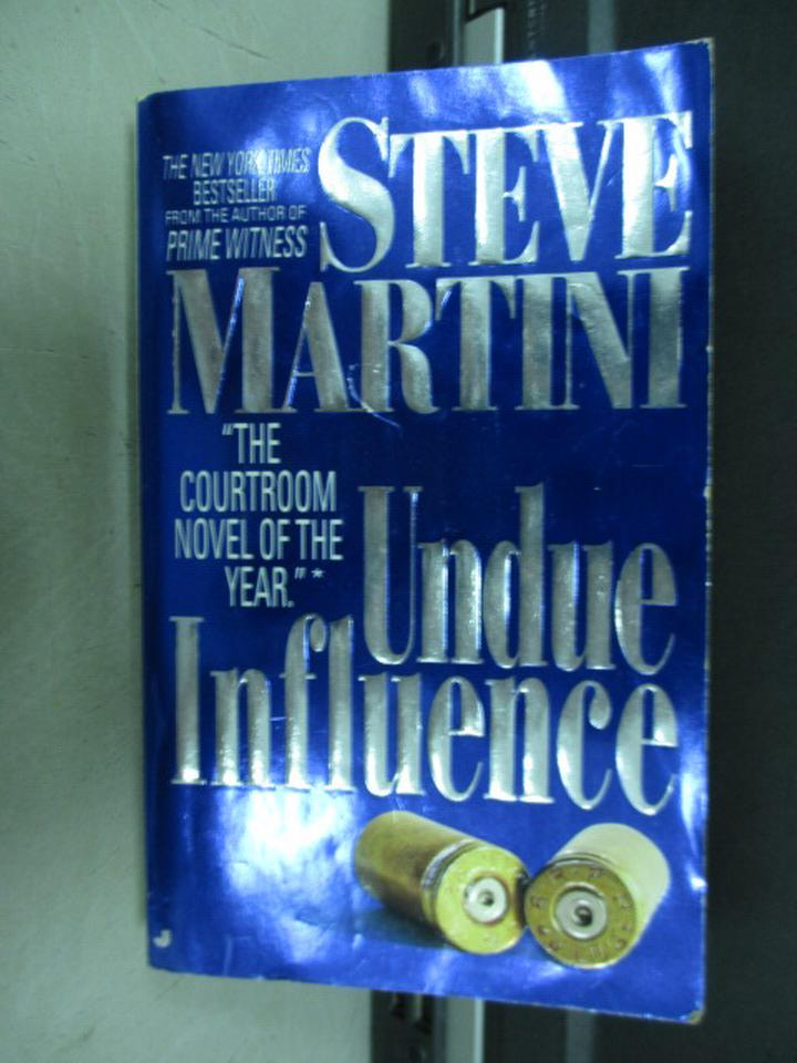 【書寶二手書T6/原文小說_ISH】Undue Influence_Steve Martini