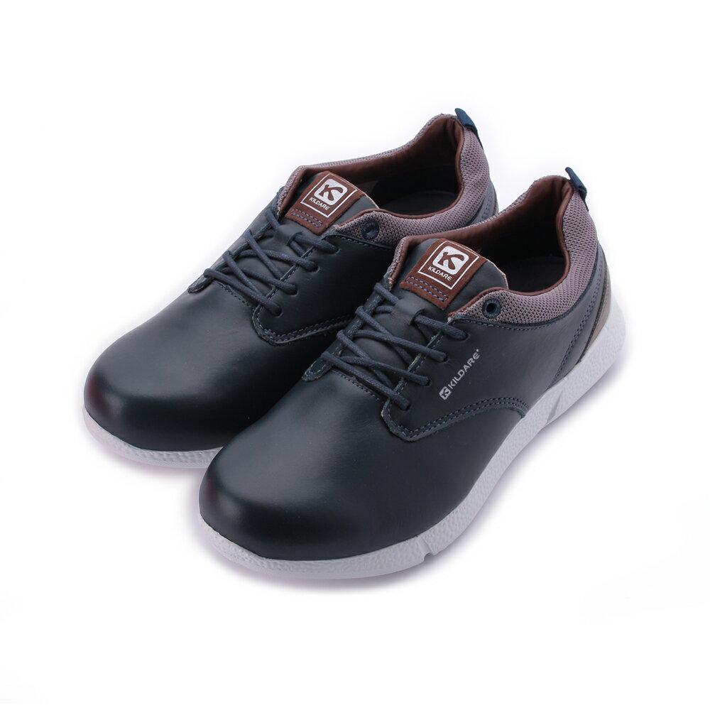 巴西KILDARE - 亮皮綁帶休閒鞋 藍 AL388-NA 男鞋 0