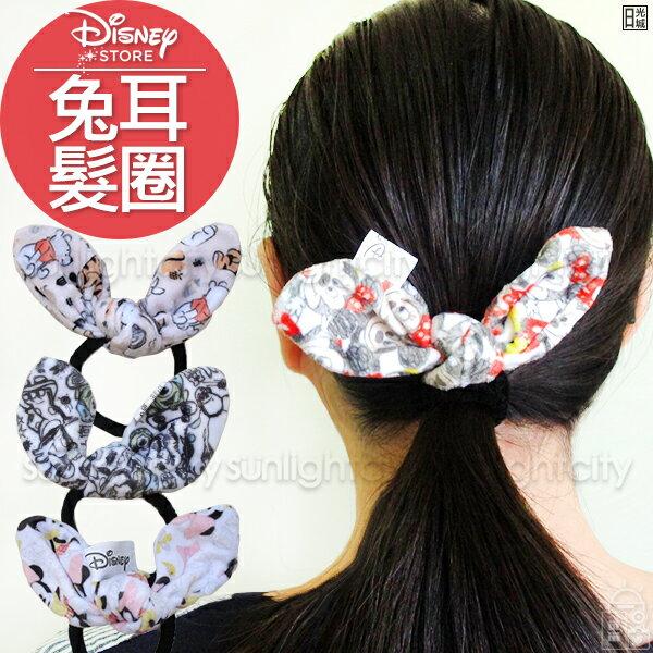 日光城。迪士尼兔耳髮圈,髮束髮帶綁頭髮束髮束中米奇米妮維尼史迪奇怪獸大學