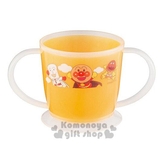 〔小禮堂〕麵包超人 雙把手塑膠小水杯《橘.朋友.雲》容量約180ml