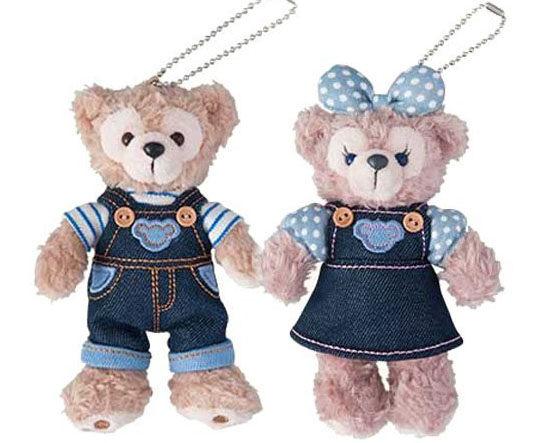 迪士尼Duffy Shellie May 絨毛玩偶娃娃吊飾2016牛仔吊帶娃娃海渡
