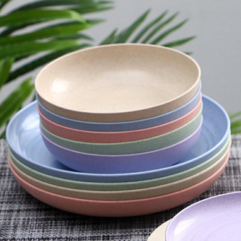 加深吐骨頭碟菜盤子家用小吃碟子水果盤塑料骨碟5\10個裝