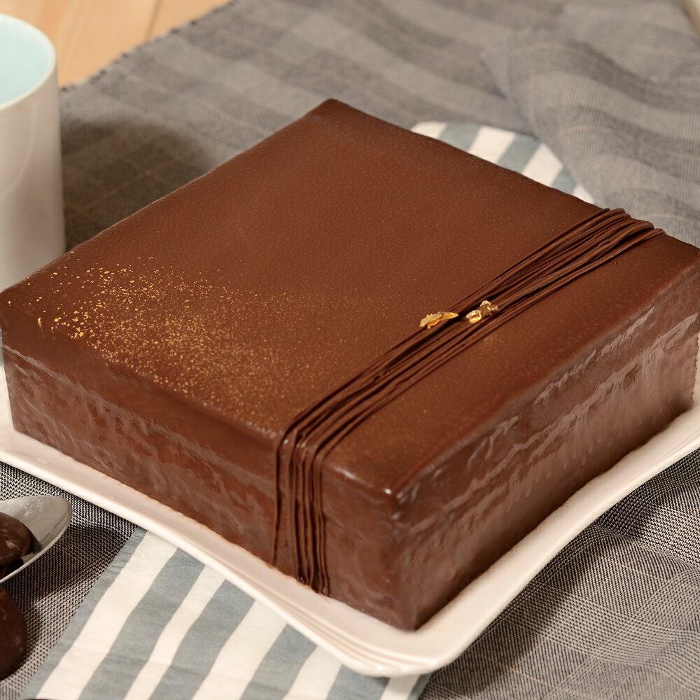 艾波索【巧克力黑金磚方形6吋】蘋果日報蛋糕評比冠軍 2019蘋果日報評比母親節蛋糕推薦
