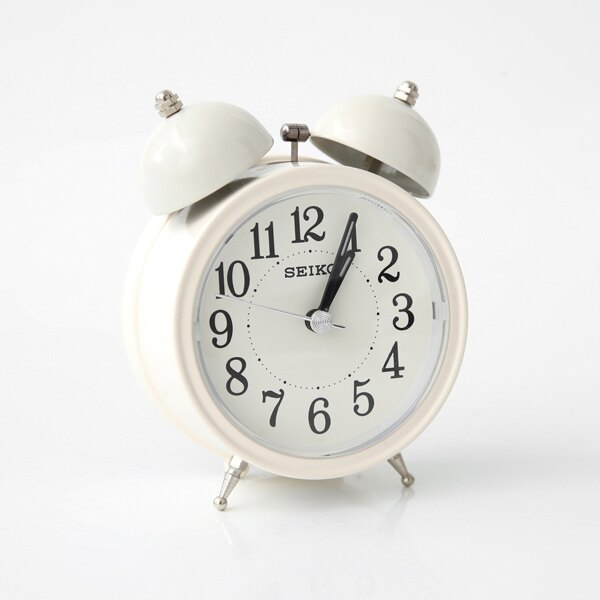 SEIKO純白色大聲公造型鬧鐘【NV51】柒彩年代