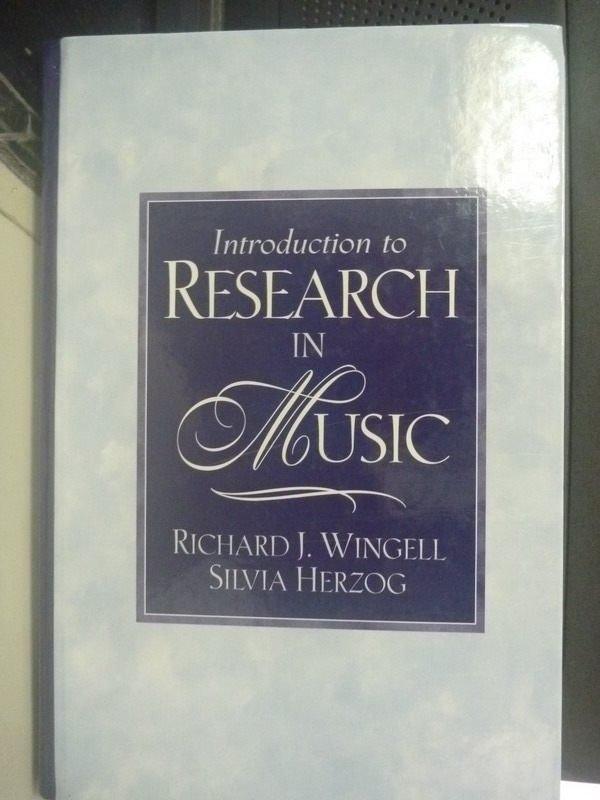 【書寶二手書T7/大學藝術傳播_PGY】Introduction to Research