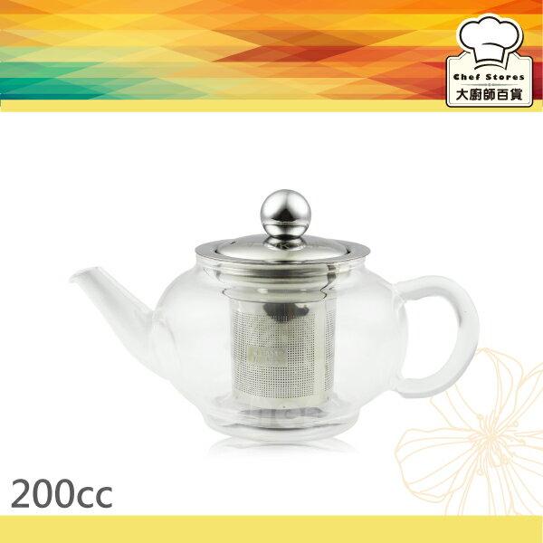 AOK養身玻璃泡茶壺附濾網200cc個人獨享壺~大廚師