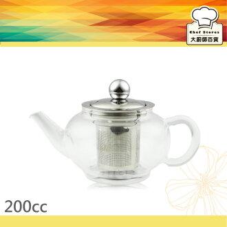 AOK養身玻璃泡茶壺附濾網200cc個人獨享壺-大廚師百貨