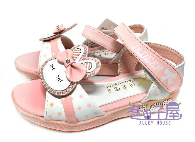 ~巷子屋~童款亮鑽兔子 涼鞋 寶寶鞋 學步鞋  5520  粉紅 價 190  ~~110