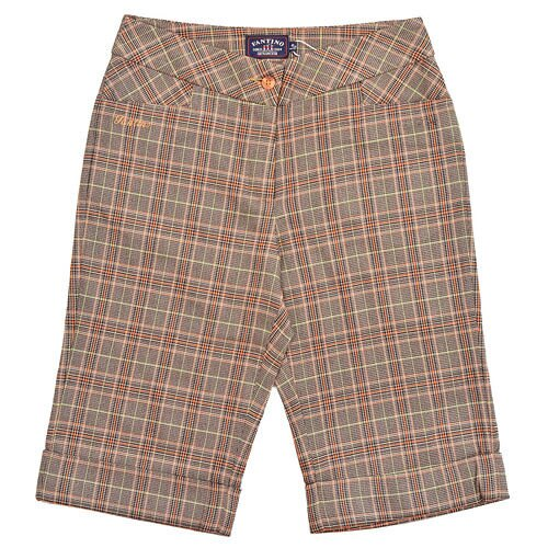 【FANTINO】女裝 復古格紋短褲(桔)723611 - 限時優惠好康折扣