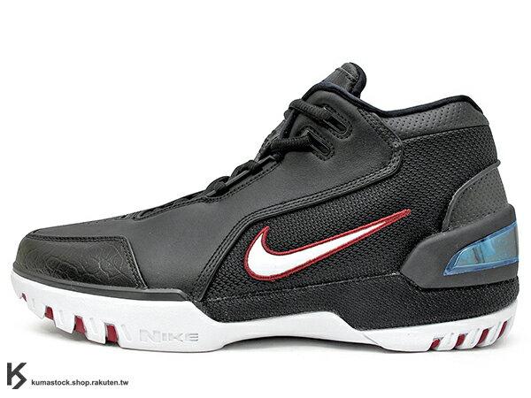 2017 小皇帝 LeBron James 限量復刻 NIKE AIR ZOOM GENERATION QS 黑白紅 NBA 第一雙代言鞋款 H2 悍馬車 KING'S ROOK (AJ4204-001) ! 0