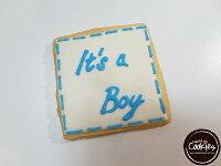 分享幸福的婚禮小物推薦喜糖_餅乾_伴手禮_糕點推薦【裸餅乾Naked Cookies】It's boy生日款6入-創意手工糖霜餅乾,婚禮/生日/活動/收涎/彌月