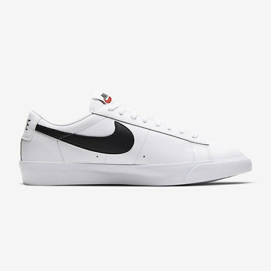 【滿額↘再折$250】【NIKE】Blazer Low 白黑色 皮革 低筒 男鞋 休閒鞋 CZ1089-100