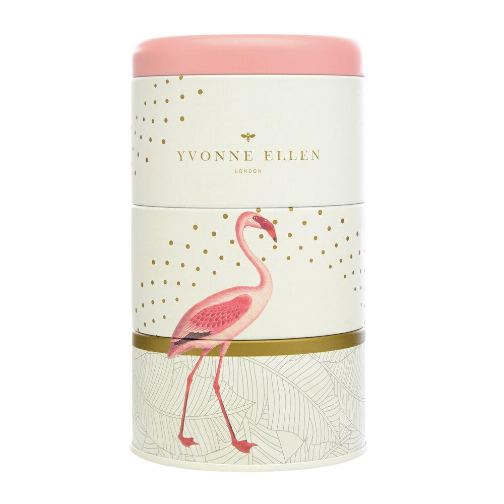 英國Wax Lyrical  動物饗宴YVONNE ELLEN三層蠟燭禮盒-熱帶狂想 (紅鶴)