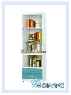 ╭☆雪之屋居家生活館☆╯AA547-04牛津書櫃(藍)(2X6尺下二抽)(516)置物櫃收納櫃書架