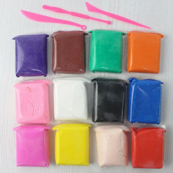 超輕粘土 5D輕輕泥 12色入 超輕黏土/一袋12色入{定100} 附工具-6514