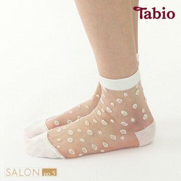 日本靴下屋Tabio圓點透膚棉質短襪