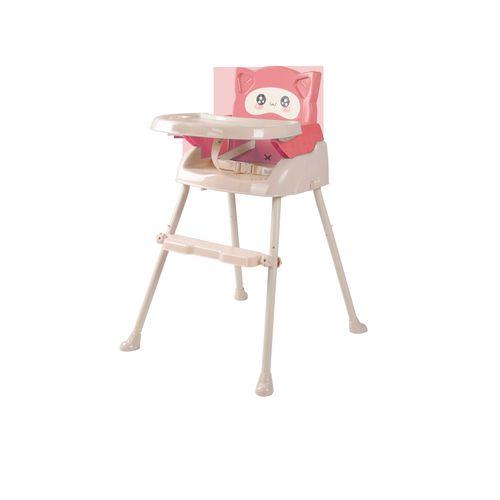 Cuibaby酷貝比好奇貓四合一兒童用高腳椅-珊瑚粉★衛立兒生活館★