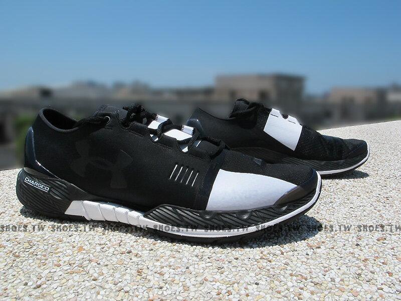 [28cm]《下殺7折》Shoestw【1284356-001】UNDER ARMOUR 慢跑鞋 AMP訓練鞋 黑白 太極