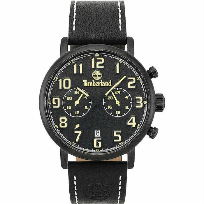 Timberland 天柏嵐 TBL.15405JSQU / 02 決戰時刻 美式時尚腕錶 / 黑面 45mm - 限時優惠好康折扣