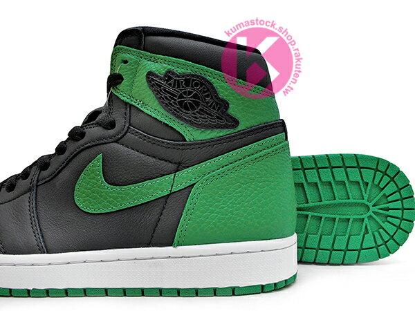 2020 經典復刻款 九孔鞋洞 NIKE AIR JORDAN 1 RETRO HIGH OG PINE GREEN BLACK 黑綠 CELTICS 波士頓 塞爾提克 黑綠腳趾 AJ (555088-030) ! 3