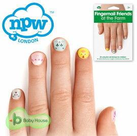 超可愛!!! [ Baby House ] 英國【NPW】可愛指甲貼 - 農場【愛兒房生活館】