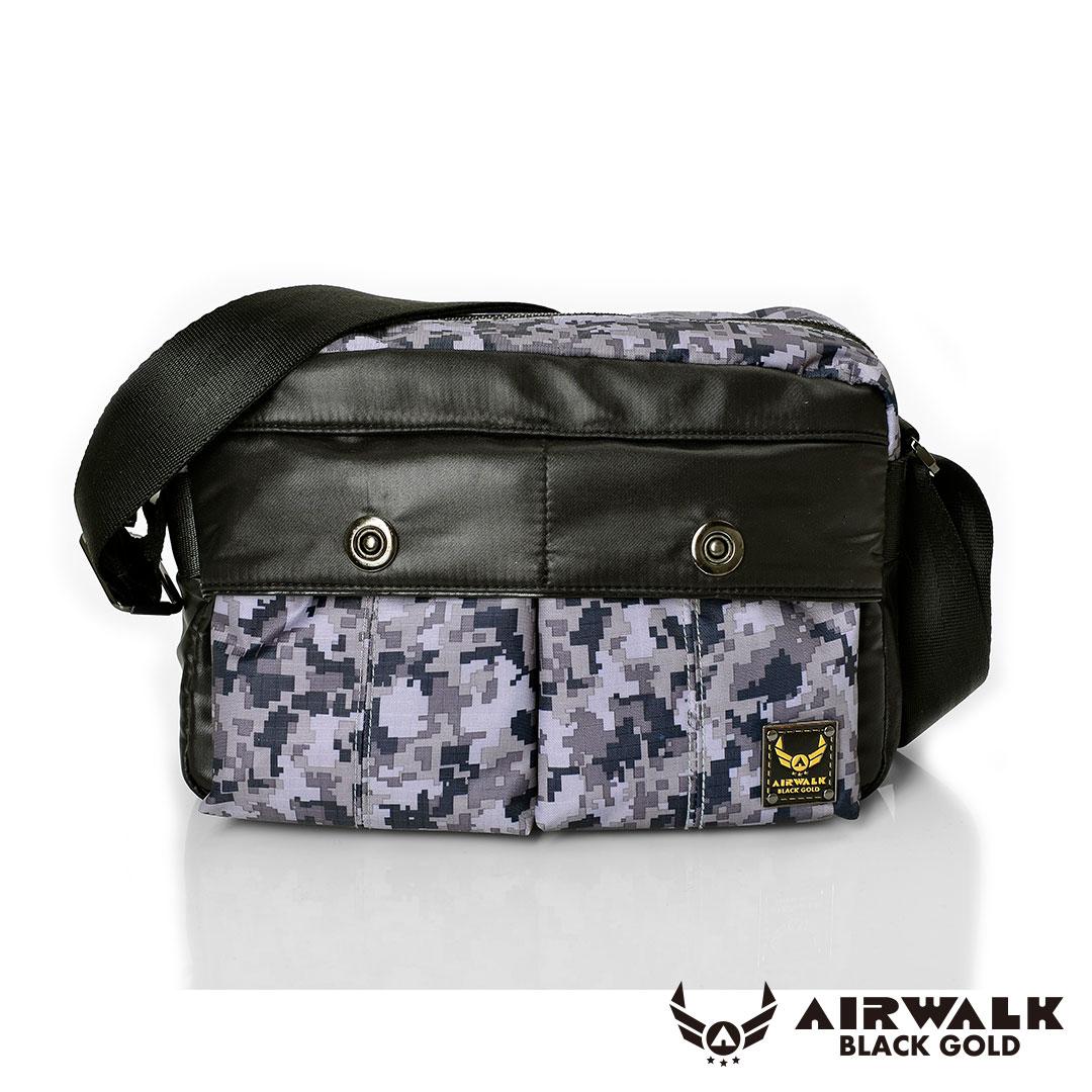AIRWALK - 黑金系列 【禾雅】輕裝騎兵 - 經典雙前袋側肩包 - 小 - 迷彩灰