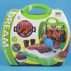夢想手提箱 BBQ組 NO.8312 扮家家酒玩具(綠)/一組入{促300} 仿真烤肉玩具 烤肉組 烤肉遊戲組 烤肉玩具燒烤遊戲~CF130905