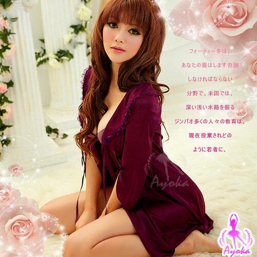 【紫星情趣用品】幸福奇遇!浪漫柔緞外罩衫