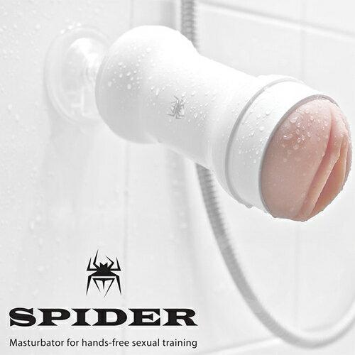 【紫星情趣用品】韓國SPIDER-STU訓練大師非手持式性愛姿態模擬吸盤自慰杯-(皓月白)(FA00001)