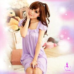 【紫星情趣用品】浪漫花戀!甜蜜柔緞睡襯裙