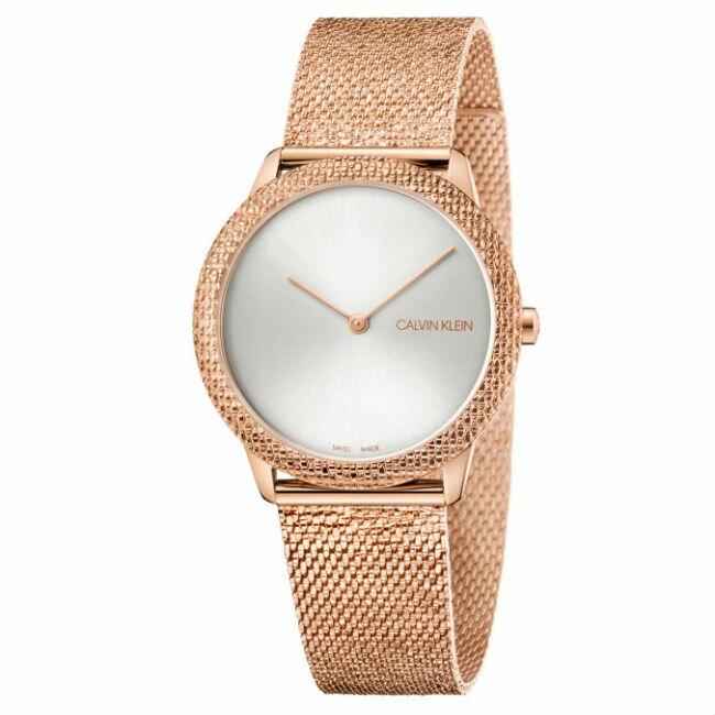 大高雄鐘錶城 Calvin klein 卡文克萊 Minimal系列(K3M22U26) 簡約重溫復古腕錶/ 玫瑰金 35mm