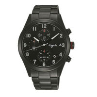 agnès b.眼鏡推薦到agnes b VD57-KT20SD(BM3011X1)情人限量巴黎時尚計時腕錶/黑面40mm就在大高雄鐘錶城推薦agnès b.眼鏡