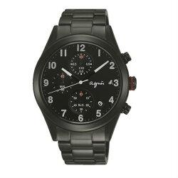 agnes b VD57-KT20SD(BM3011X1)情人限量巴黎時尚計時腕錶/黑面40mm