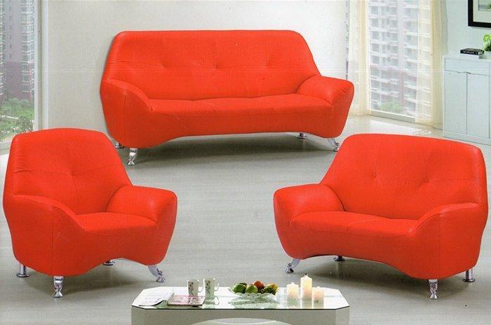 【尚品家具】※超低價特賣※ K-707-01 小可愛 厚皮乳膠1+2+3沙發組~有綠、紅、藍、黑可選擇~台灣製造