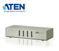 ATEN 4埠 USB KVM多電腦切換器 一組VGA控制端可管理4台(CS74U) DDC2B 支援無線鍵鼠【迪特軍3C】