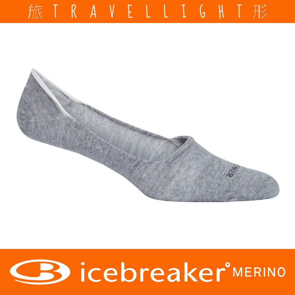 【Icebreaker】女款針織都會隱形襪 灰色 美麗諾羊毛 Travellight旅形