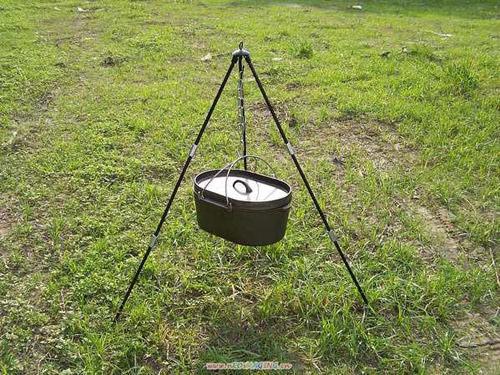 【速捷戶外露營】【CAMP-LAND】RV-IRON 004三腳吊鍋架(110CM)美式荷蘭鍋架 焚火三腳架