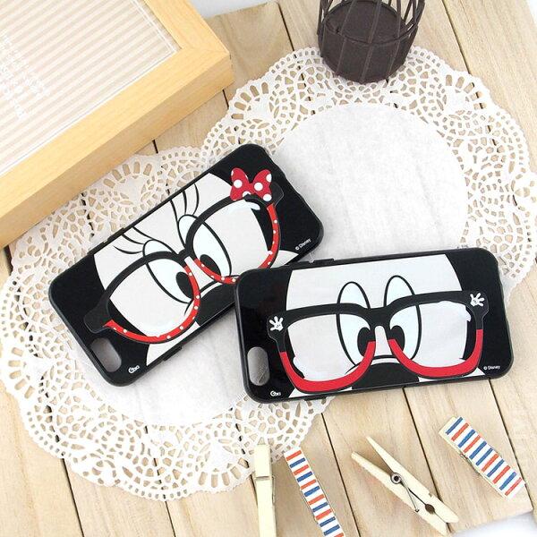 【Disney】iPhone6Plus6sPlus米奇米妮時尚眼鏡款保護套