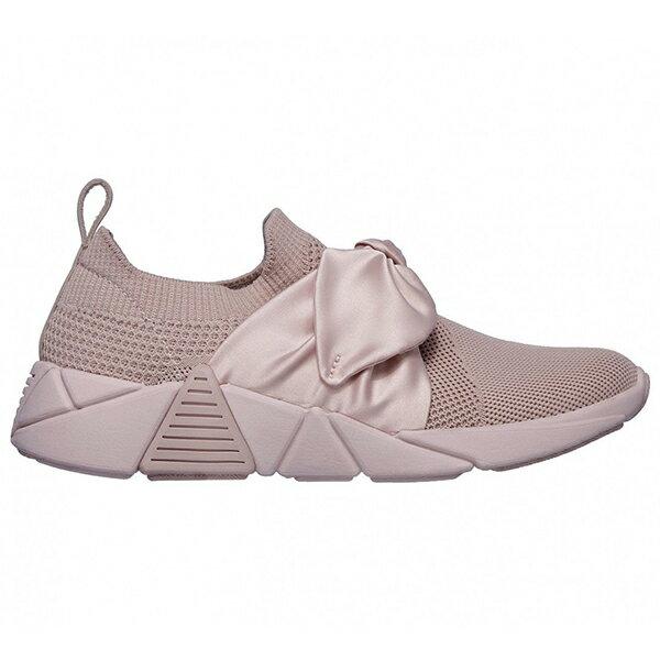 Shoestw【68849PNK】SKECHERS 健走鞋 MARK NASON 記憶鞋墊 休閒鞋 襪套 緞帶蝴蝶結 玫瑰粉 裸色 女生尺寸 1