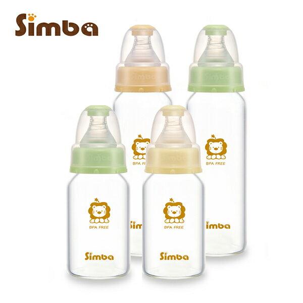 Simba小獅王辛巴 ~ 超輕鑽 玻璃奶瓶 組 ^(2大2小^) 加贈nac nac ~