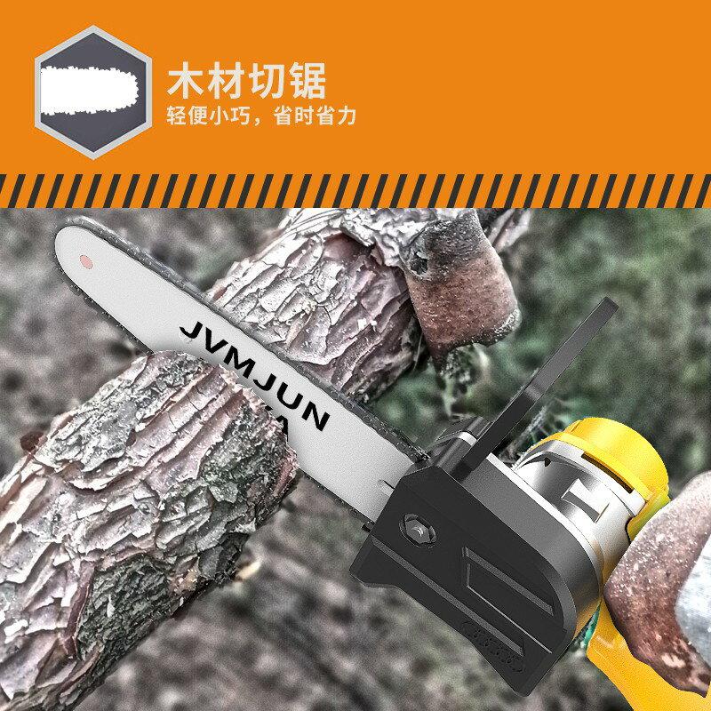 電鏈鋸 充電式 無線鋰電 砂輪機 軍刀鋸  鏈鋸 電鋸 充電式單手電鏈鋸修枝小型家用戶外手持無線鋰電果