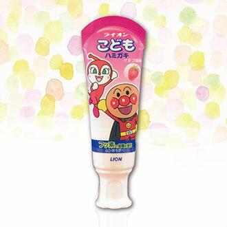 【日本製】LION 日本 獅王 麵包超人幼兒牙膏 草莓