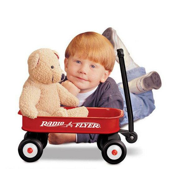 麗嬰兒童玩具館~美國Radio Flyer-小遊騎兵迷你拖車-學步車/滑步車/手拉車