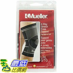 [106美國直購] Mue/Sprt 護膝 4-Way Knee Suppo Size 1ct Mueller Sport W-Way Knee Support 1ct