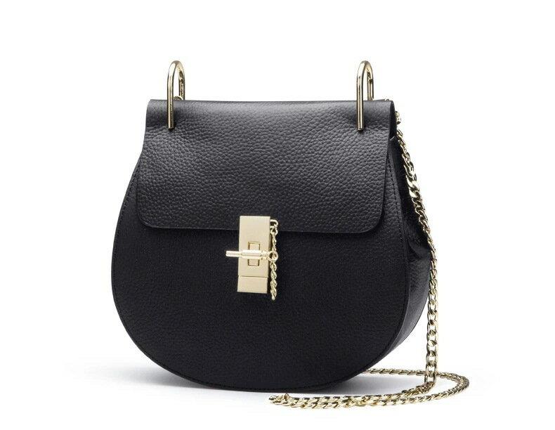 女包斜挎小包 品牌包包 潮流鏈條包~黑色小號
