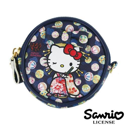 5337【日本進口正版】Hello Kitty 凱蒂貓 三麗鷗 人物系列 圓型 皮質 零錢包 SANRIO - 123718